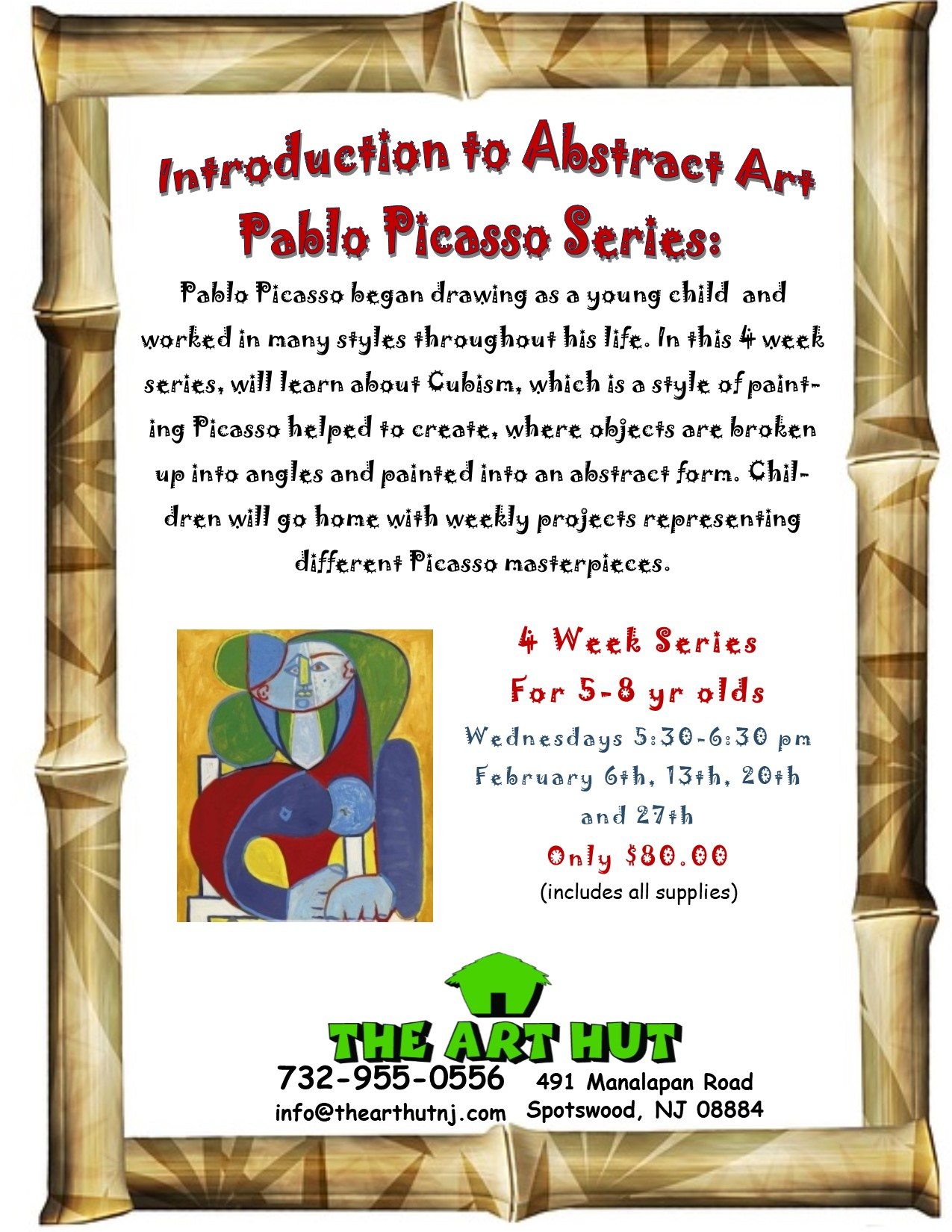 Intro to Abstract Art - Pablo Picasso (Ages 5-8 yrs old) - The Art Hut
